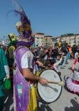 35° carnevale Scampia -那不勒斯意大利 图库摄影