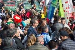 35° carnevale Scampia -那不勒斯意大利 免版税库存照片