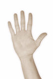 cinq du numéro 5 de main Images libres de droits