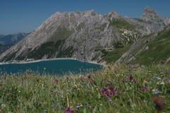 € de Luenersee «Vorarlberg - Autriche Photo libre de droits