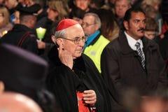 Cardeal durante a maneira da cruz presidida pelo papa Francis mim Fotografia de Stock Royalty Free