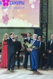 € de Minsk, Belarus «le 26 septembre 2015 : Panysh Denis et Komar Iri Photos stock