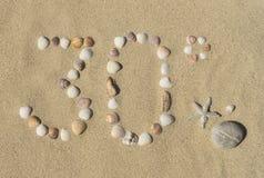 30° de zomer Royalty-vrije Stock Afbeeldingen