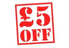 £5 FORA fotos de stock royalty free