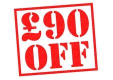 £90 fuori Fotografie Stock Libere da Diritti