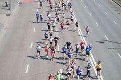 il 2 maggio di MOSCA: Partecipanti all'azione XVII alla m. Fotografia Stock