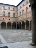 intérieur Milan, Italie de vue d'â de château de Sforzesco Photos libres de droits