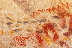 Â-Malereien in der Höhle der Hände, Patagonia, Argentinien lizenzfreies stockfoto