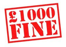 £1000 MUITO BEM Fotos de Stock Royalty Free