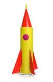 a nave espacial fora do papel colorido Fotografia de Stock