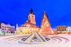 Â Roumanie de centre de la ville d'â de Brasov vieil image libre de droits