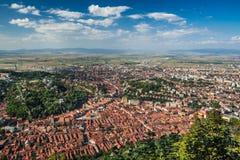 Â Rumania del centro de ciudad del â de Brasov viejo Imágenes de archivo libres de regalías