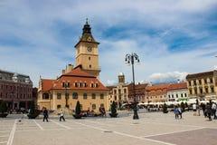 Rumania del centro de ciudad del â de Brasov viejo Fotografía de archivo