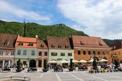 Rumania del centro de ciudad del â de Brasov viejo Foto de archivo libre de regalías