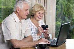 sênior dos pares 42 anos no amor Fotos de Stock Royalty Free