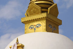 Stupa des yeux de Bouddha Images libres de droits