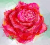 un estilo triangular subió Imagen de archivo