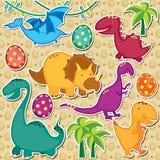 De leuke dinosaurussen knippen art. Royalty-vrije Stock Fotografie