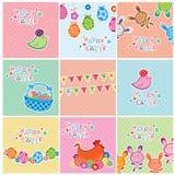 De Kaarten van Pasen Stock Foto