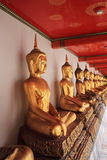 Wat Pho da estátua de Buddha do ouro, Banguecoque, Tailândia Foto de Stock