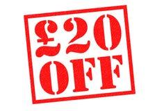 £20 weg Royalty-vrije Stock Afbeeldingen