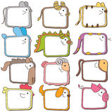 Chińskie zodiaka zwierzęcia ramy Zdjęcie Stock