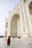 Âgrâ, Inde, le 16 septembre 2010 : Vue différente de l'esprit du Taj Mahal Image libre de droits