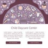 Âme centrale de soin d'enfant et de bébé ou calibre de carte illustration libre de droits