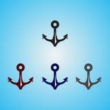 Âncora de quatro cores Imagem de Stock Royalty Free