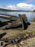 Âncora grande no mar Foto de Stock Royalty Free