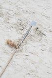 Âncora na areia Fotografia de Stock Royalty Free