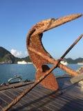 Âncora oxidada Fotografia de Stock