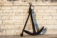A âncora velha do barco Imagem de Stock
