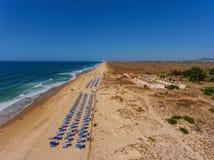 Âncoras portuguesas aéreas do cemitério da praia da vista Imagens de Stock