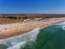 Âncoras portuguesas aéreas do cemitério da praia da vista Fotografia de Stock
