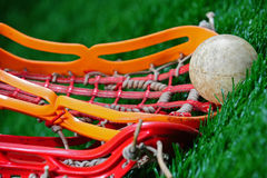 Ângulo abstrato de um fim do lacrosse acima Foto de Stock Royalty Free
