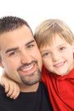 Ângulo considerável do pai e do filho Foto de Stock Royalty Free