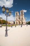 Ângulo do dia da catedral de Notre Dame Fotos de Stock Royalty Free