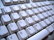Ângulo do teclado Fotografia de Stock