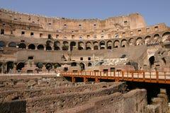 Ângulo largo interno de Roma Colosseum Fotografia de Stock