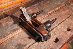 Ângulo plano de madeira dois de combinação do vintage velho Imagem de Stock Royalty Free