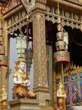 Ângulo tailandês da arte no pavilhão Fotos de Stock