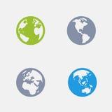 Ângulos da terra - ícones do granito ilustração royalty free