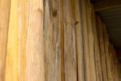 Ângulos de parede de madeira velhos Imagem de Stock