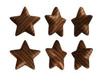 Ângulos diferentes da estrela de madeira ilustração stock