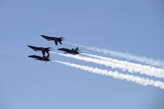 Ângulos dos azuis marinhos dos E.U. em Airshow Fort Worth Fotografia de Stock