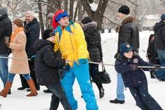 Âtag tradizionale russo del gioco di warâ Fotografie Stock