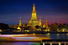 âWat Arunâ, tempel av Thailand Arkivfoton