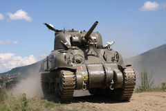 âWW II del serbatoio di M4A1 Sherman Immagine Stock Libera da Diritti