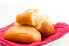 Áåëûé õëåá, fresh baking on a dish Stock Image